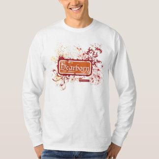 Dearborn afligiu o T do LS dos homens Camiseta