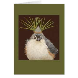 Deb o cartão adornado do titmouse