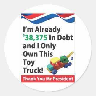 Débito do caminhão adesivo