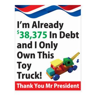 Débito do caminhão cartão postal