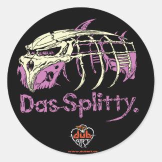 Decalque da etiqueta de Dubart.co DAS Splitty Adesivo