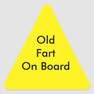 """Decalque da janela: """"Velho Fart a bordo de """" Adesivo Triangular"""