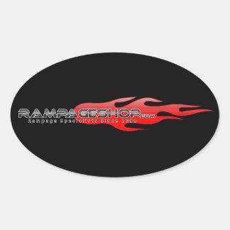 decalque de RampageShop.com/etiqueta - Oval Adesivo Oval