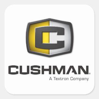 Decalque do logotipo de Cushman Adesivo Quadrado