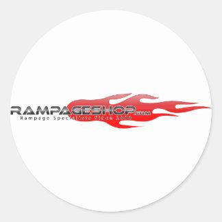 Decalque/etiqueta brancos redondos do logotipo de adesivo