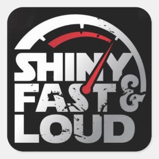 Decalque rápido & alto brilhante do logotipo adesivo quadrado