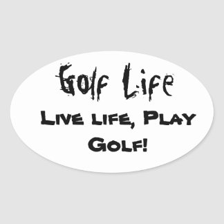 Decalques da vida do golfe adesivo oval