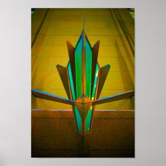 Decked para fora em Deco (néon) Posteres