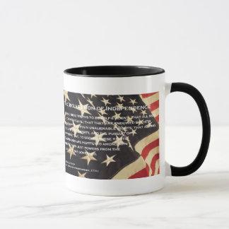 """""""Declaração caneca de café patriótica da"""