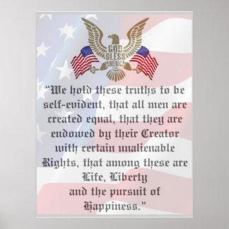 Declaração de independência impressionante pôster