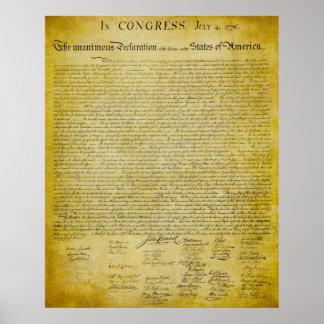 Declaração do impressão da independência