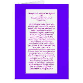 Declaração do jGibney da independência O MUSEU Zaz Cartão Comemorativo