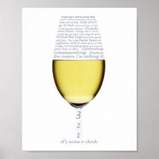 Declaração do poster do pulso de disparo do vinho