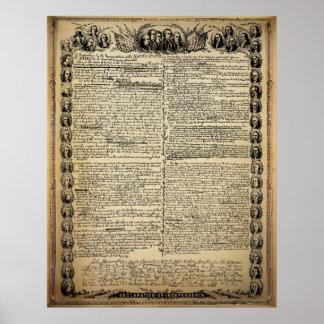 Declaração do vintage do impressão da independênci