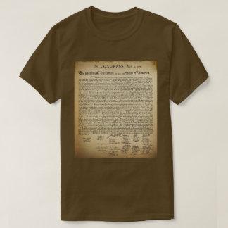 Declaração do vintage do t-shirt da independência camiseta