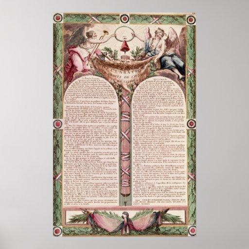 Declaração dos direitos de homem, 1793 posters