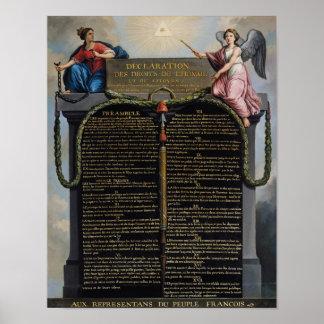 Declaração dos direitos de homem e de cidadão pôster
