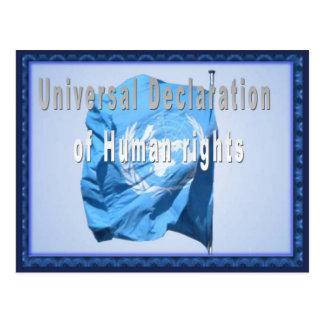 Declaração universal de direitos humanos cartão postal