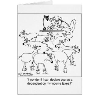 Declarando cabras como dependentes cartão comemorativo