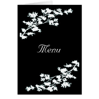 Deco floral que Wedding o cartão do menu