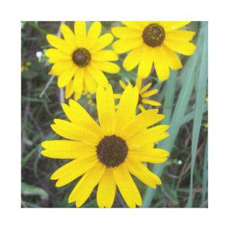Decoração amarela das canvas da flor impressão em tela