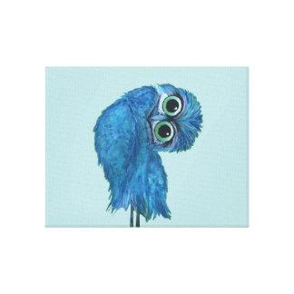 Decoração Burrowing azul e verde da coruja