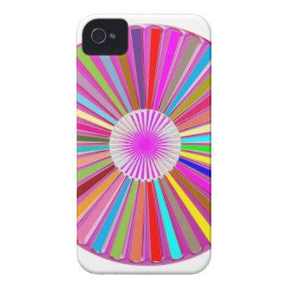 Decoração cura colorida redonda de Goodluck da iPhone 4 Capa