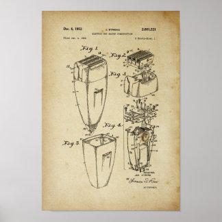 Decoração da barbearia do poster da patente do