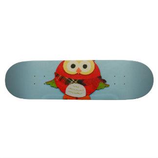 Decoração da coruja shape de skate 21,6cm