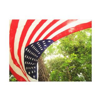 Decoração das canvas da bandeira americana (#01) impressão em tela