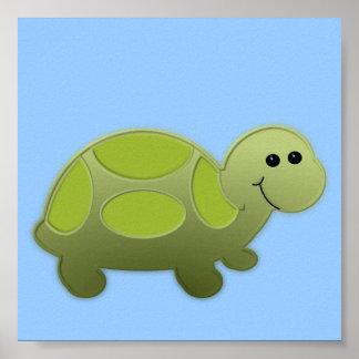 Decoração do berçário da tartaruga do bebê pôster