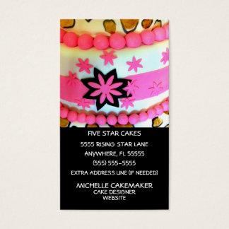 Decoração do bolo cartão de visitas