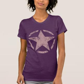 Decoração do estilo do estêncil da estrela camiseta