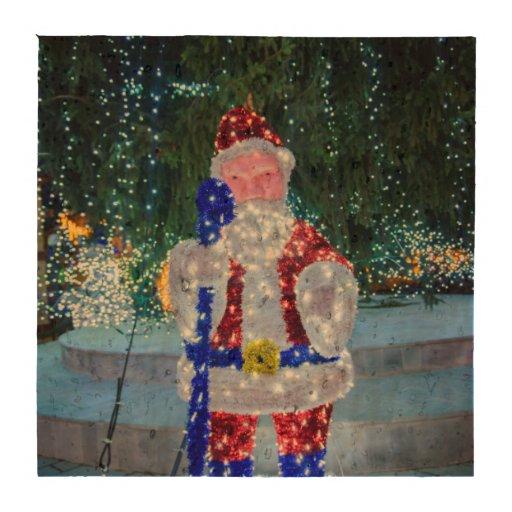 Decoração do Natal de Papai Noel Porta Copos