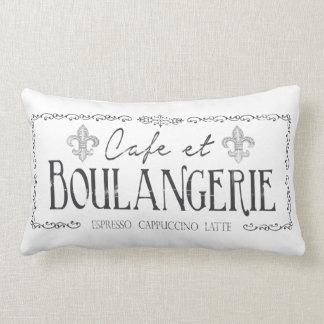 Decoração do travesseiro do café e do francês de almofada lombar