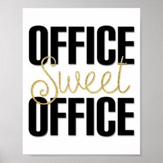Decoração doce do poster do escritório do pôster