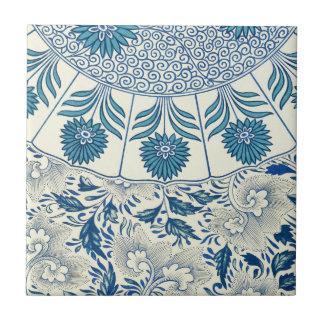 Decoração oriental azul FloralPattern do vintage Azulejos De Cerâmica