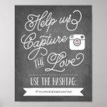 Decoração Wedding social de Hashtag | dos meios do Poster