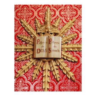 Decorações da igreja Católica Modelo De Panfleto