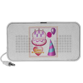 Decorações do balão do bolo de HappyBIRTHDAY Caixinhas De Som Para Mp3