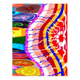 Decorações festivas orientais cartão postal