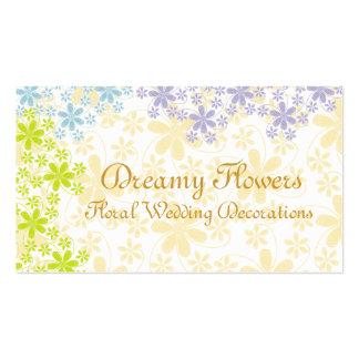 Decorações florais do casamento cartão de visita