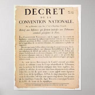 Decreto da convenção nacional poster