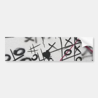 Dedo do pé de Tic Tac dos grafites Adesivo Para Carro
