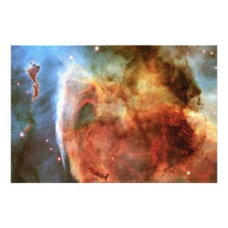 Dedo médio da nebulosa do buraco da fechadura da n impressão de foto