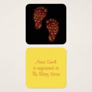 Dedos do pé tribais cartão de visitas quadrado