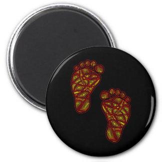 Dedos do pé tribais ímã redondo 5.08cm