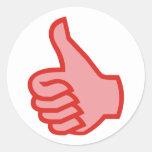 DEDOS POLEGAR OK alto thumbs up Adesivo
