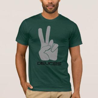 Dedos R&B da camisa dois do sinal de paz da canção