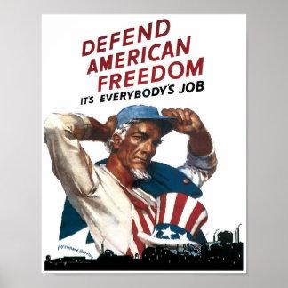 Defenda a liberdade americana poster